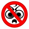 No Stupid Woodpeckers Area Sign — Stock Photo