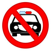 No Police Cars Allowed — Stock Photo