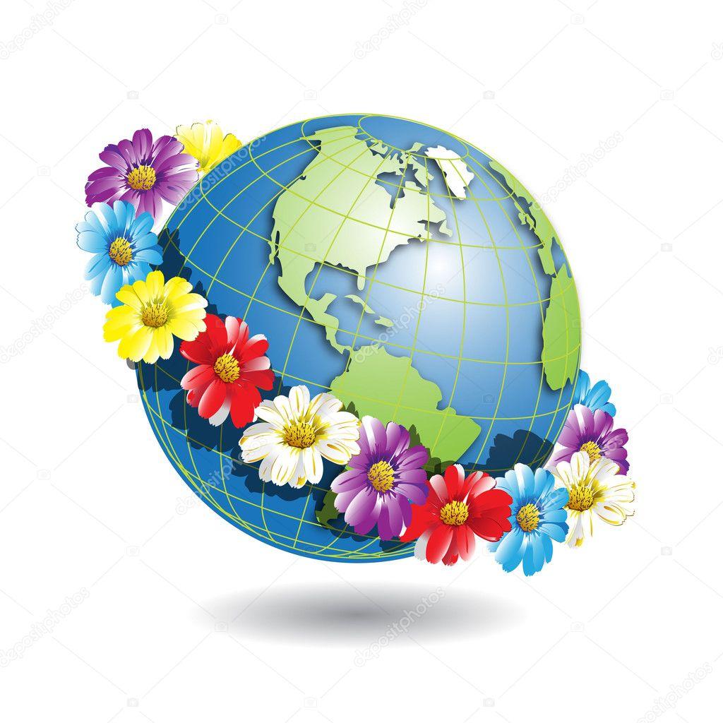 Рисунок земного шара 5