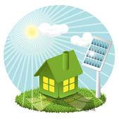 Batería solar — Vector de stock