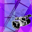 Video camera — Stock Vector #3413774