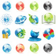 Icons globe — Stock Vector #3549797