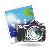 Photo camera — Stock Vector