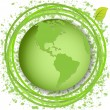 Green globe — Stock Vector