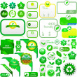 Set of natural labels. Vector set. — Imagen vectorial