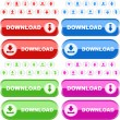 Download button set. Vector set for web. - Stock Vector