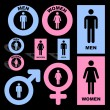 Men and women icons. Graphic elements set. - Imagens vectoriais em stock