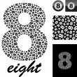 Eight. Background with numbers — Stock Vector