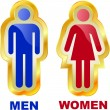 Men and women icons. Graphic elements set. - Stockvektor