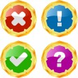 Approved and rejected button set. - Stock Vector