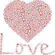 Royalty-Free Stock Imagen vectorial: Background with heart.