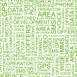 COMMUNICATION. Word collage on white background — Vector de stock