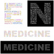 Royalty-Free Stock Vector Image: MEDICINE. Vector letter collection