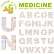MEDICINE. Vector letter collection — Stock Vector