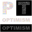 OPTIMISM. Vector letter collection — Vettoriali Stock
