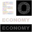 ECONOMY.  Vector letter collection - Stock Vector