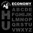 Royalty-Free Stock Vector Image: ECONOMY.  Vector letter collection