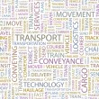TRANSPORT. Seamless vector background - Grafika wektorowa