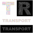 TRANSPORT. vector letter collection — Stock Vector