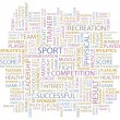 SPORT. Vector letter collection. Wordcloud illustration. - Stock Vector