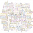 Wektor stockowy : PROFESSION. Word collage. Vector illustration.