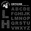 CRITICISM. Word collage on black background. — Stock Vector