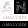 ANALYSIS. Word collage on white background. — Imagen vectorial