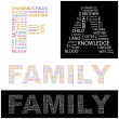 Royalty-Free Stock Vector Image: FAMILY.  Vector illustration. Illustration with different association terms
