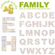 FAMILY. Word collage on white background. Vector illustration. — Imagen vectorial