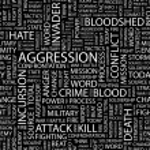 agresión. ilustración vectorial — Vector de stock