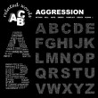 AGGRESSION. Vector illustration. — Stockvectorbeeld