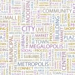 CITY. Word collage on white background. — Imagen vectorial