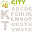 CITY. Word collage on white background. — Stock Vector #3076244