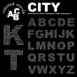 CITY. Word collage on white background. — Vector de stock