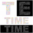 TIME. Illustration with different association terms. — Stock Vector #3076366