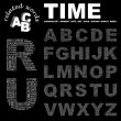 TIME. Word collage on black background. - Stock Vector