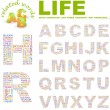 LIFE. Illustration with different association terms. - Stock Vector