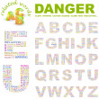 DANGER. Illustration with different association terms. — Stock Vector #3076803