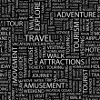 TRAVEL. Word collage. Vector illustration. — Stock Vector