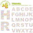 TRAVEL. Word collage. Vector illustration. — Stock Vector #3076856
