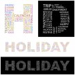 HOLIDAY. Vector letter collection. — Stock Vector