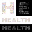 Stock Vector: HEALTH. Vector letter collection. Wordcloud illustration.