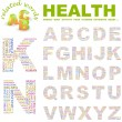 HEALTH. Vector letter collection. Wordcloud illustration. - Stock Vector