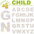 Vector de stock : CHILD. Illustration with different association terms.