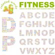 FITNESS. Illustration with different association terms. — Stock Vector