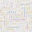 OFFICE. Seamless vector pattern with word cloud. — Stock Vector #3077563