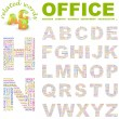 OFFICE. Seamless vector pattern with word cloud. — Stock Vector