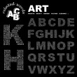 ART. Word collage on black background. — Stockvektor