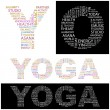 YOGA. Vector letter collection. — Stock Vector