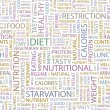 DIET. Word collage on white background. — Stock Vector